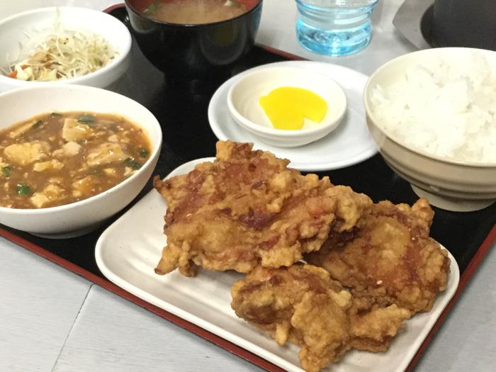 札幌市 中国料理布袋 ザンギ定食