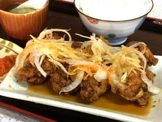 函館 中華幡龍 鶏南蛮定食