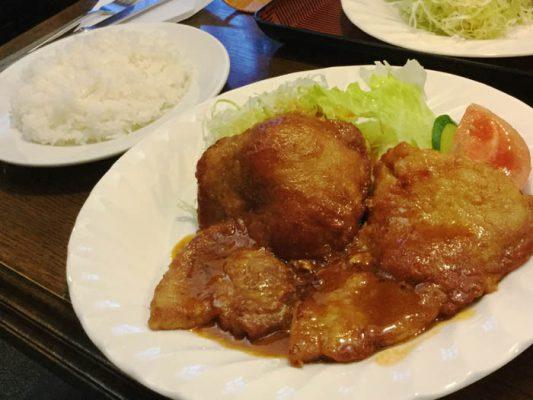 北斗市 洋食の久保 ポークソテー