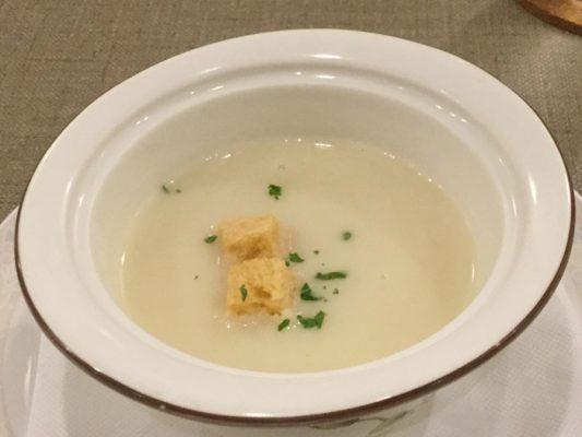 H29 北斗市 洋風料理小川亭 おすすめミニコース カリフラワーのスープ
