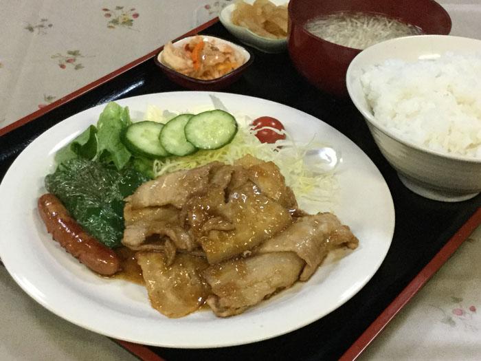 平成29年 森町 高原食堂 しょうが焼き定食