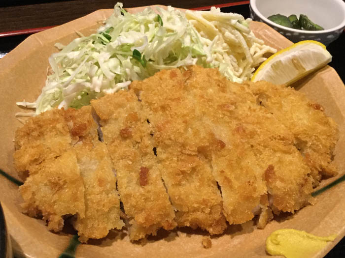 平成29年 東京都 豊島区 らくや食堂 とんかつ定食