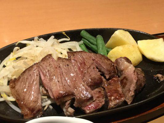 平成29年 東京都 大塚 やよい軒 大塚店 カットステーキ