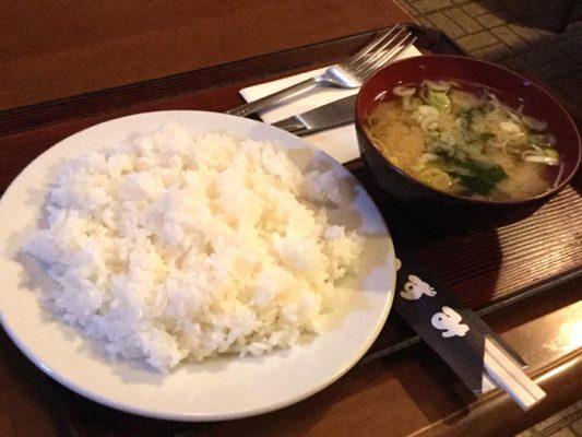 平成29年 豊浦町 ドライブンいずみ ポークステーキ ライス 味噌汁