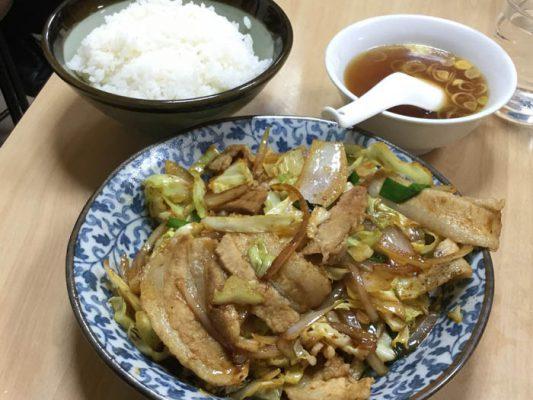 平成30年 東京都千代田区 中華料理やまだ 肉野菜炒め定食