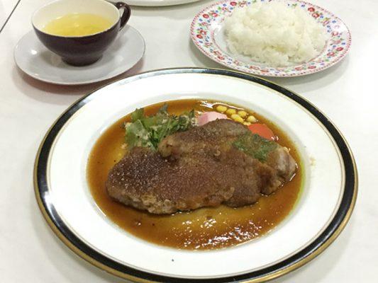 平成30年 網走市 レストランアルカディア 北斗ポークのポークソテー ガーリック