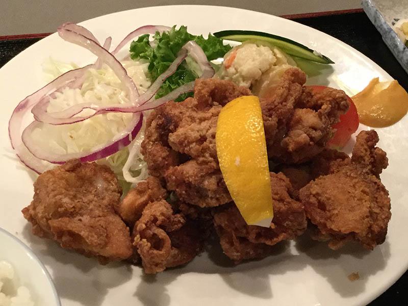 平成30年 札幌市 キッチン一力 若鶏の唐揚定食