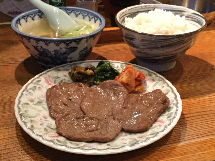 平成29年 札幌市 牛助 牛タン定食
