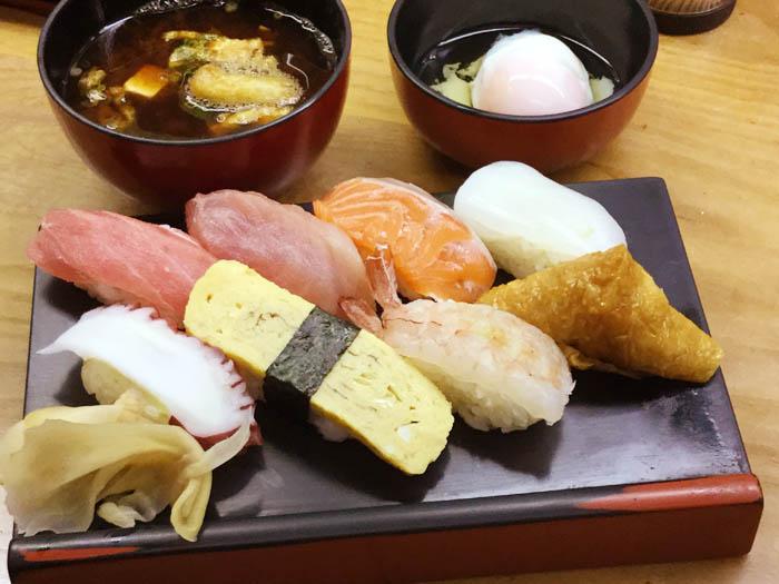 平成30年 香川県高松市 立ち食い寿司七幸 にぎりセット