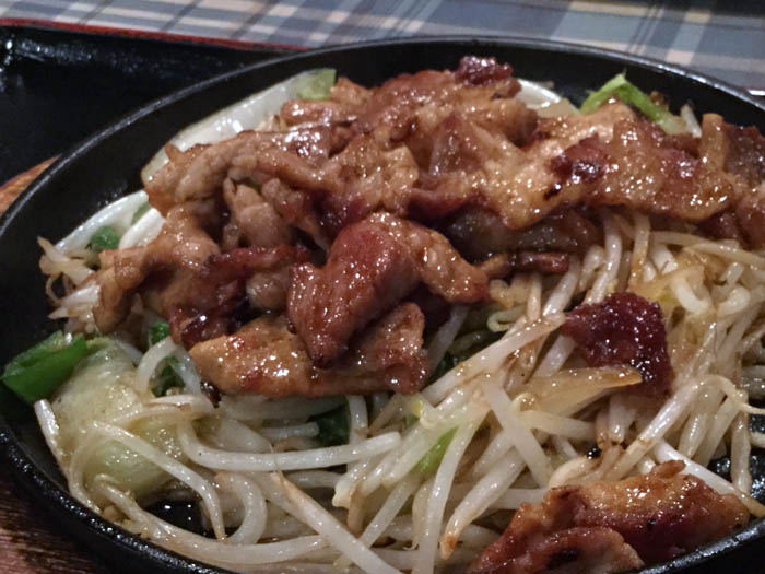 平成30年 札幌市 キッチン一力 豚肉のショウガ焼定食